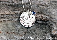 Pregnancy and infant loss  Hand Stamped  Necklace by galwaydesigns, $30.00