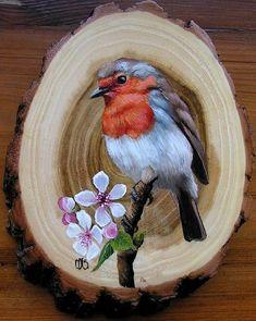 Bird Painting Acrylic, Bird Paintings On Canvas, Wood Painting Art, Diy Canvas Art, Watercolor Art, Aluminum Foil Art, Colored Pencil Artwork, Rock Painting Designs, Bird Drawings