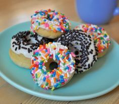 Mini Donut Recipe.  I got a mini donut maker for Christmas - we LOVE baking donuts for weekend breakfasts.  I'll add this recipe to our repertoire!