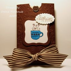 Hot cocoa packet holder tutorial