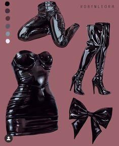 Digital Painting Tutorials, Digital Art Tutorial, Art Tutorials, Fashion Design Drawings, Fashion Sketches, Fashion Illustrations, Art Sketches, Faszination Latex, Leder Outfits