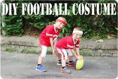 Football Player Halloween Costume #halloween #DIYcostume