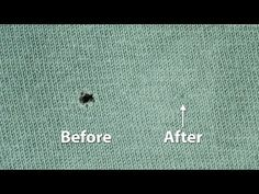 How to Repair a Hole in a T-Shirt - YouTube