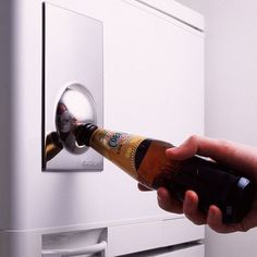 Put an end to that all too common question with this classic Bottle Opener Fridge Magnet. The super strong stainless steel magnet with non-scratch rubber magnet sticks to the fridge.