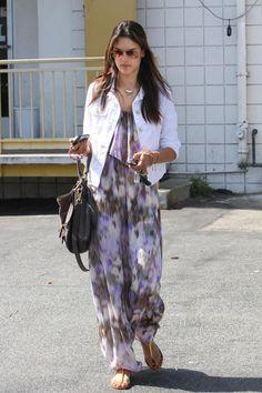 Alessandra Ambrosio Bohemian Style.