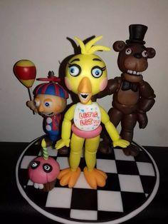 Five Night's At Freddy's X 4 Adorno Torta Muñecos Grandes!!! - $ 790,00 en Mercado Libre