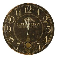 Chateau French Country Antique Brass Large Wall Clock #kathykuohome