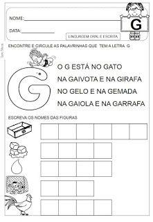 Atividades de A á Z Dani Educar Professor, Preschool, Writing, Reading, Emerson, Gabriel, Kindergarten, Flora, Children