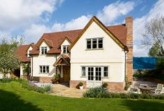 An oak frame self build home combining traditional style with modern building techniques