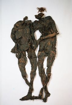 """The Weerdinge Men were two naked bog bodies found in the southern part of Bourtanger Moor in Drenthe, The Netherlands in 1904. The two likely died between 160 BC and 220 AD. At first it was believed that one of them was female, which led to the name """"Weerdinge couple"""" or, more popular """"Mr. and Mrs. Veenstra ('veen' being the Dutch term for bog and """"Veenstra"""" being a very common Dutch surname). The more complete Weerdinge man had a large wound on his chest, through which his entrails spilled out."""