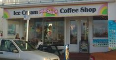 Normies in Woolacombe. Yummy scrummy ice cream sundaes, cakes and coffee all served with a welcoming smile.