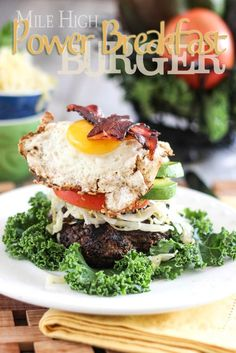 Mile High Power Breakfast Burger