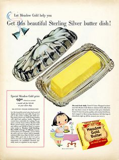 Meadow Gold Butter Dish