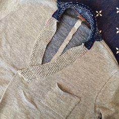 linen/cotton knit kenka shirt from Kapital