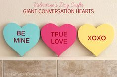 Conversation Heart Candy Craft | Easy Valentine's Day DIY via The Newlywed Pilgrimage