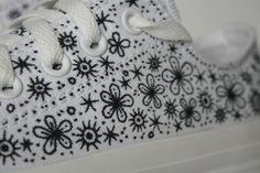 Custom Converse by Johanna Basford