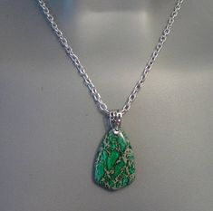 Your place to buy and sell all things handmade Green Necklace, Pendant Necklace, Teen Jewelry, Anklets, Natural Gemstones, Jasper, Headbands, Unique Gifts, Chain