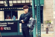 Lee Jong Suk wanders the streets of New York for 'InStyle' photoshoot in gear from 'DAKS Accessories'