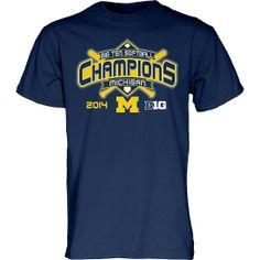 University of Michigan Softball 2014 Big Ten Champion T-Shirt 74521e1f25