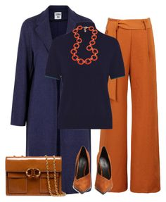 """""""outfit 6756"""" by natalyag ❤ liked on Polyvore featuring WithChic, Les 100 Ciels, Fornash, Balmain and Tory Burch"""