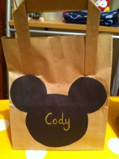 Mickey Mouse party bag for the boys at my sons Mickey Mouse clubhouse themed birthday party! by DeanieMyrie