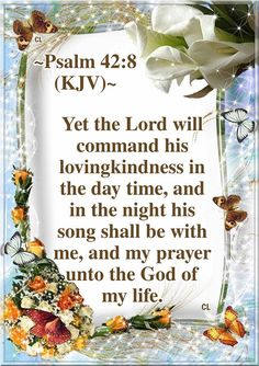 Psalms KJV Hallelujah-Maranatha and more Blessings! Night Prayer, My Prayer, Prayer Board, Biblical Quotes, Bible Verses Quotes, Scripture Verses, Sleep Prayer, Psalm 42, Love Scriptures