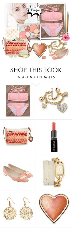 """""""Rosegal"""" by airin-flowers ❤ liked on Polyvore featuring Palm Beach Jewelry, Tommy Bahama, Smashbox, Jimmy Choo, Versus, Urbiana, Too Faced Cosmetics and Essie"""