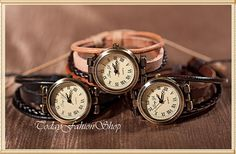 Wrist watches,vintage watches, men watches, women watches,woven hemp rope watches,cowhide leather watches CW-18 on Etsy, $16.00