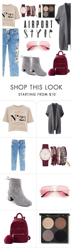"""""""In the Red Lips"""" by nabilahnabill on Polyvore featuring River Island, Lands' End, MANGO, True Craft and plus size clothing"""