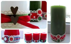 Candles for christmas! Candles, Table Decorations, Christmas, Diy, Home Decor, Xmas, Decoration Home, Bricolage, Room Decor