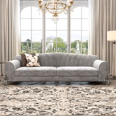 Classic Luxury Nubuck Leather Grey Sofa Grey Sofa Design, Gray Sofa, Sofa  Furniture,