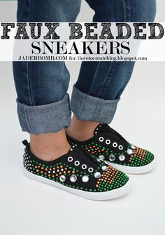iLoveToCreate Blog: HOW TO MAKE: FAUX BEADED SNEAKERS