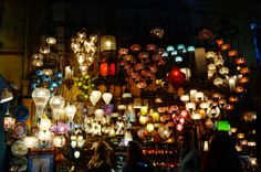 So many lights! The Grand Bazaar / Dispatch: 3 Crazy and Colorful weeks in Istanbul - vegan travel - Peaceful Dumpling