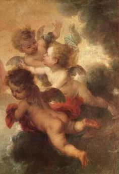 Hand-Painted oil painting reproduction of Murillo, Bartolome Esteban The Two Trinities, detail of angels for sale,museum quality painting, oil on canvas Angel Aesthetic, Aesthetic Art, Arte Van Gogh, Renaissance Kunst, I Believe In Angels, Ange Demon, Aesthetic Painting, Guardian Angels, Classical Art