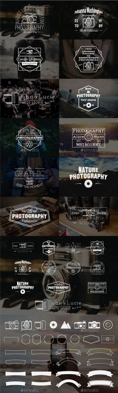 12 Vintage Photography Badges - Download…