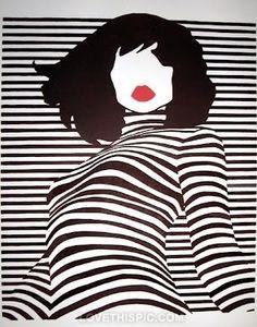 black and white stripes art - Cerca con Google