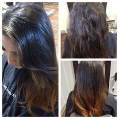 Before and after #ombre work by #JoLsalon