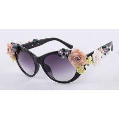2016 Vintage Shades Women Designer Rose Flowers Sunglasses