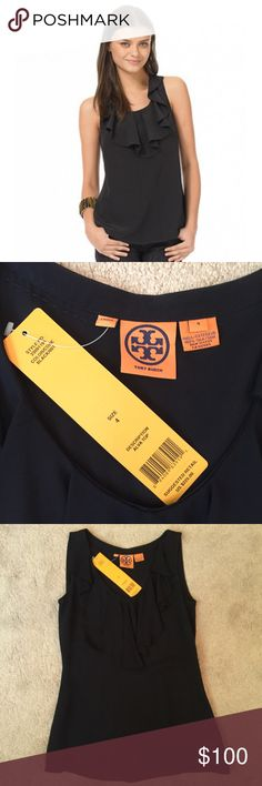 **NEW! TAGS ON** TORY BURCH ALVA SILK TOP **NEW! TAGS ON** TORY BURCH ALVA SILK TOP Black, Size 4 100% Silk Tory Burch Tops Blouses