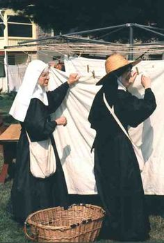 Nuns Hanging the Wash                                    Mont-Laurier, Q C Canada