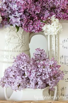 Lilacs in Bloom Vignette