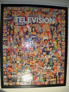 1000 piece jigsaw puzzle framed.