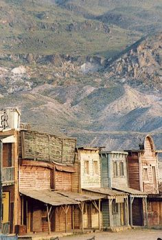 Set of various western films directed by Sergio Leone located at Almeria in Andalusia, Spain. Many movies have been filmed in Almeria. Ville Du Far West, Le Far West, Places To Travel, Places To See, Europa Tour, Old West Town, Lee Van Cleef, Angel Eyes, Spain And Portugal