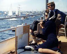John & Jackie beim Americas Cup, 1962