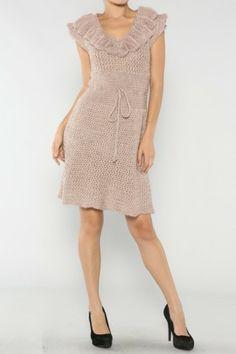 Ruffled Acrylic Dress If you love dresses salediem has the look for Fall #salediem #fall#fashion. Shipping is FREE!