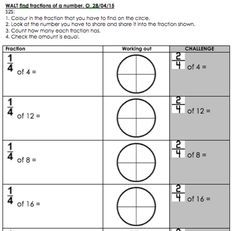 Pin On Chose International Maths worksheets fractions of amounts