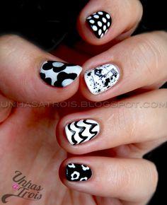 Black and white. I like the ring finger the best