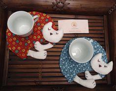 Porta copo / porta xícara / porta caneca gatinho dorminhoco Lindo presente, que agrada crianças e adultos!! ✅Facebook: Costurices da Piettra