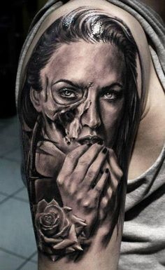 Realism Face Tattoo by Proki Tattoo - http://worldtattoosgallery.com/realism-face-tattoo-by-proki-tattoo-3/