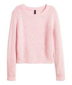 Soft pink sweater. #HMPastels